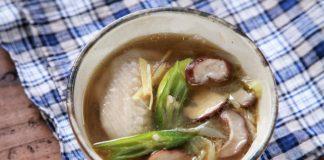 【#夏みそ汁】和風参鶏湯みそ汁 オクラ添え