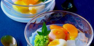 フルーツ味噌×白玉団子