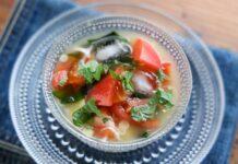 【夏みそ汁】トマトと香味野菜の冷やしみそ汁